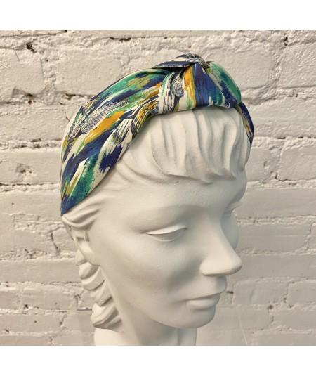 Liberty Print City Paint Blue Print Center Turban