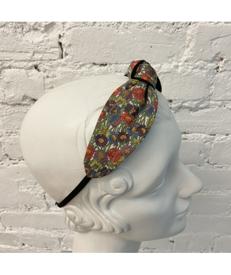Daisy Multi iberty Print Turban Elastic Headband