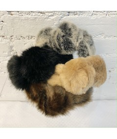 Faux Fur Turban Elastic Headband