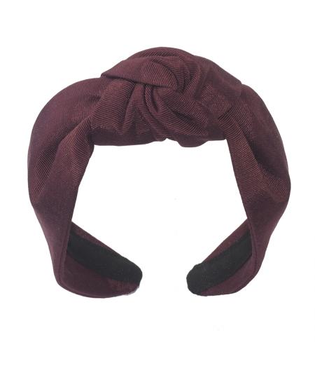 Burgundy Bengaline Blair Center Turban Headband
