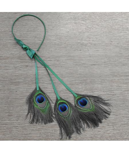 Kelly Green Peacock Tassel