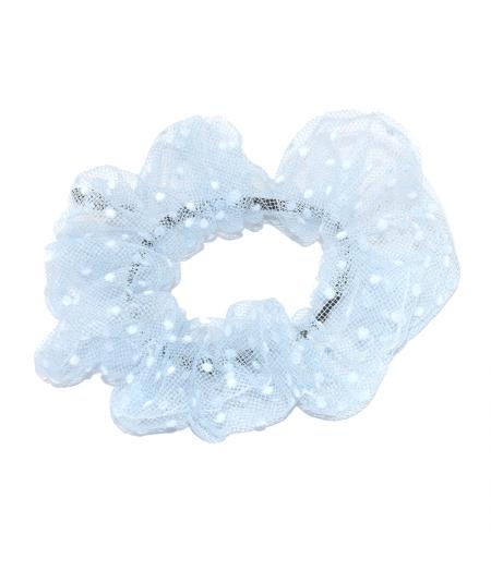 Light Blue ponytail holder hair elastic scrunchie