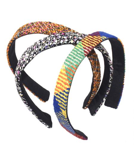 Coney Island - Chelsea - Brooklyn  Raw Silk Medium Wide Basic Headband