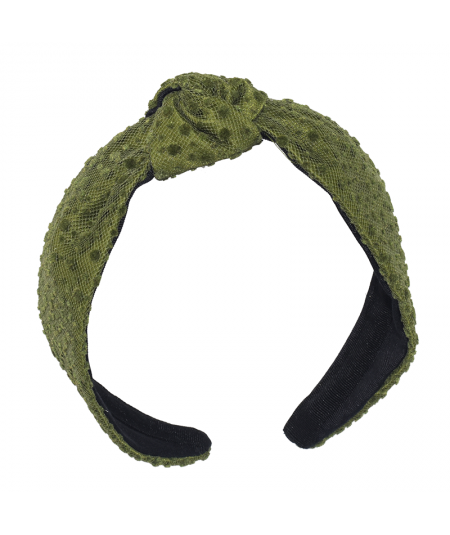 Gren Dot Dotted Tulle Center Turban Headband