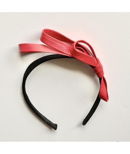 Leather Side Bow Headband
