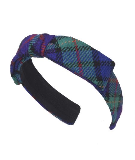 Mott Street Raw Silk Tweed Center Bow Headband
