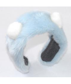 Faux Fur Earmuff with Pom Pom Ears