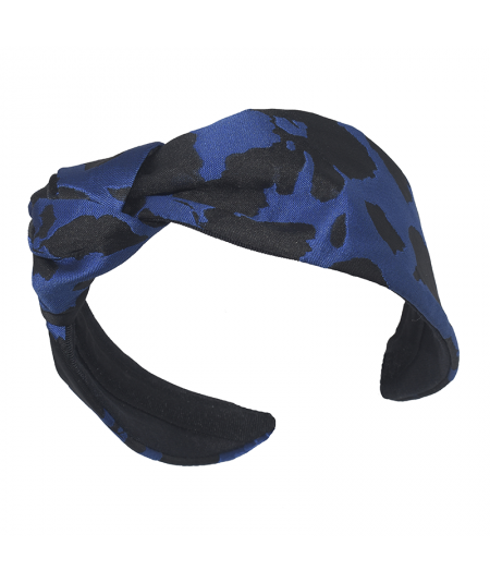Royal Oasis Floral Print Side Turban Headband
