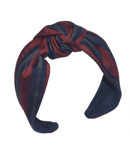 Stripe Silk Print Blair Center Turbann Headband