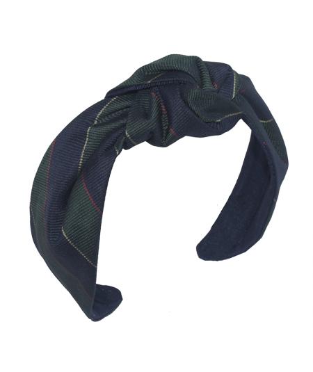 Necktie Silk Print Blair Center Turban Headband