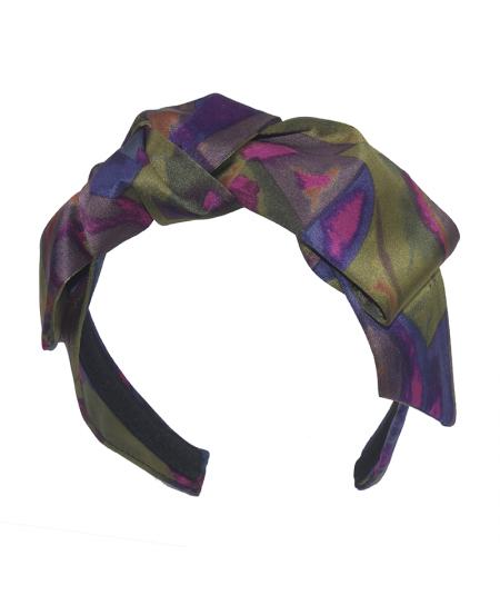 Silk Print Bow Headband
