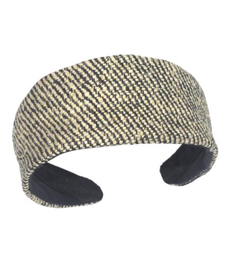 Park Avenue Silk Print Extra Wide Headband