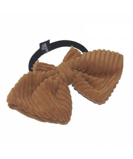 Amber Corduroy Butterfly Ponytail Holder