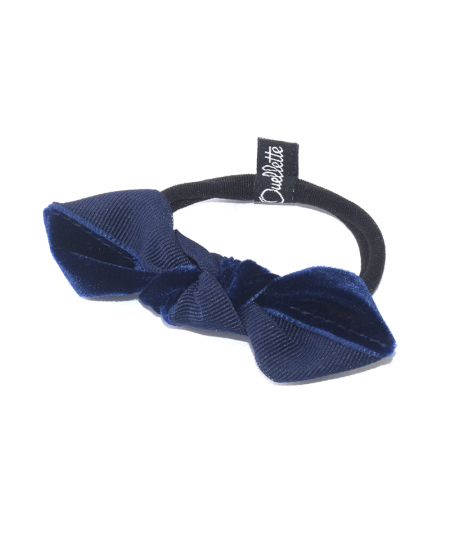 Navy with Navy Two-Tone Knot Ponytail Elastic
