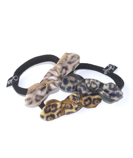 Animal Print Knot Ponytail Holder