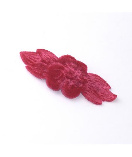 Hot Pink Velvet Flower Rose Hair Clip
