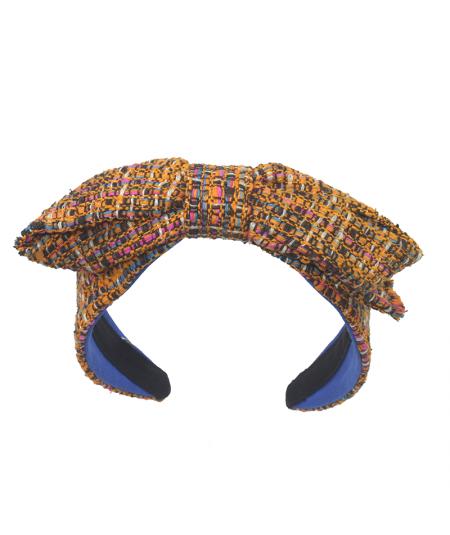 Brooklyn Silk Print Center Bow Headband