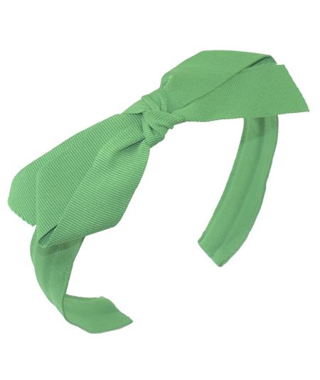 Emerald Grosgrain Center Bow Headband