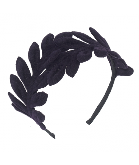 Aubergine Double Felt Flower Headband