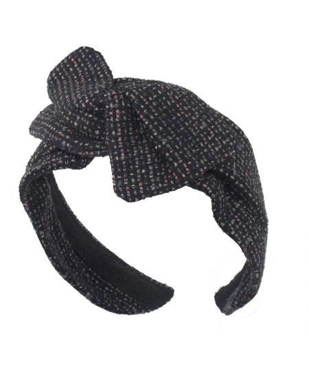 Jackie O Tweed Swivel Turban Headband