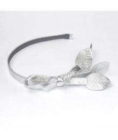 Empire Metallic Leather Headband