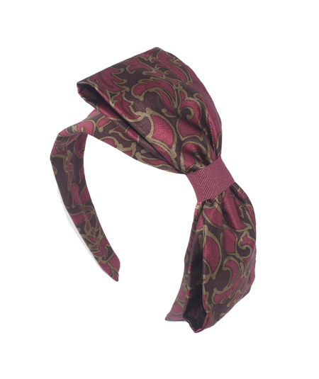 Silk Print Big Bow Headband