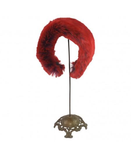 Red Purple Two-Tone Faux Fur Fun Earmuff