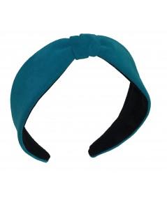 Turquoise Suede Center Divot Headband Turquoise