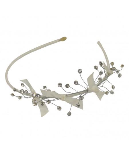 Ivory Satin Cosmic Spray Headband