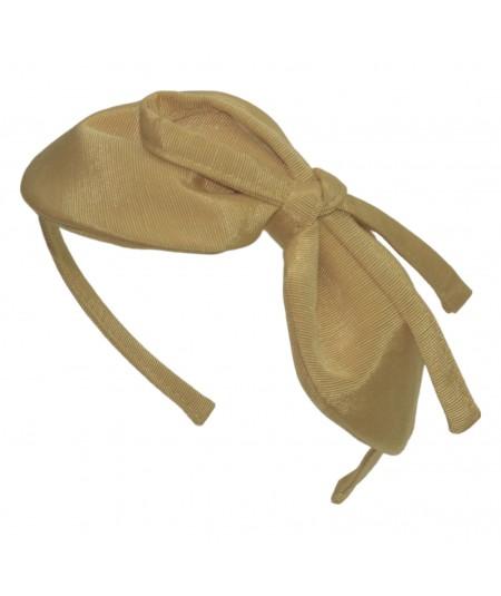 Dijon Grosgrain Texture Marie Bow Headband