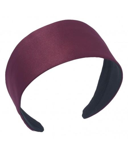 Burgundy Satin Extra Wide Basic Headband