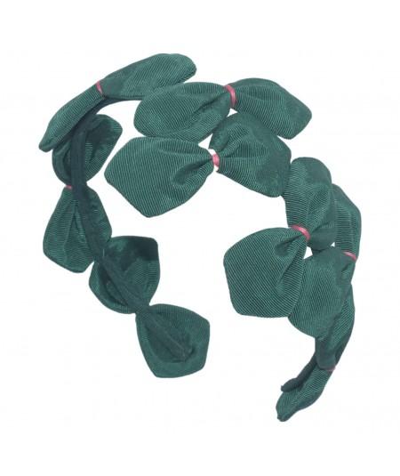 Green Bengaline Coral Stitch Sabrina Headband