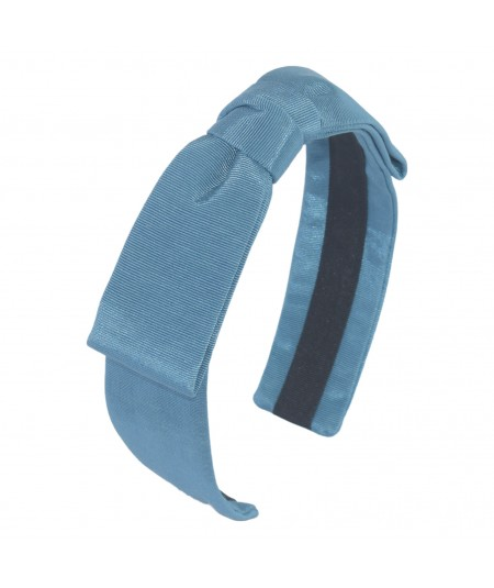 Cadet Grosgrain Texture Center Bow Headband