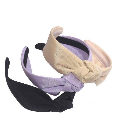 Nude - Lavender - Black Grosgrain Harlow Turban Headband