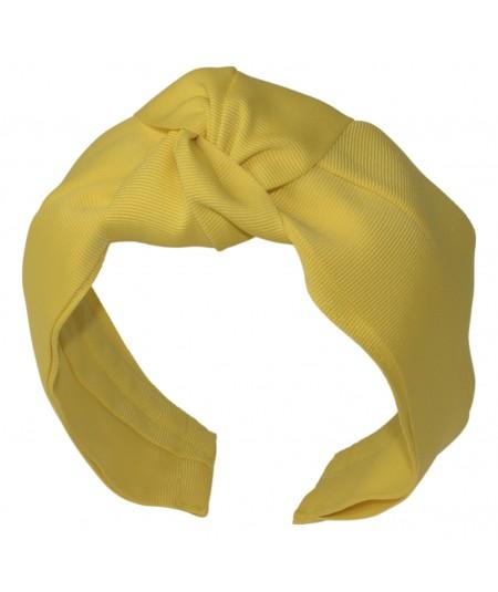 Yellow Extra Wide Grosgrain Turban Headband
