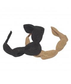 Wheat - Black Straw Knot Millinery Headpiece