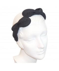 Black Straw Knot Millinery Headpiece