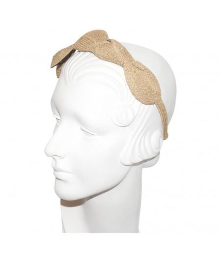 Wheat Straw Knot Millinery Headpiece