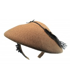 ht271-jennifer-ouellette-beret-headpiece-trimmed-with-straw-feather