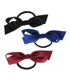 Black - Royal - Rouge Satin Ribbon Bow Pony
