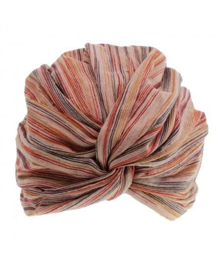 Jennifer Ouellette Raw Silk Turban Hat
