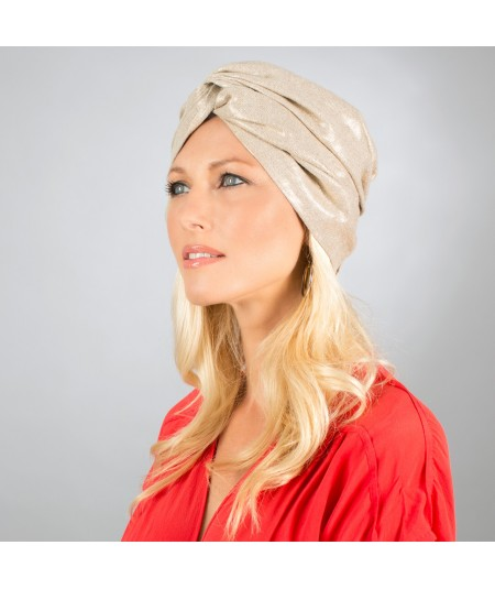 Jennifer Ouellette Raw Silk Turban Hat