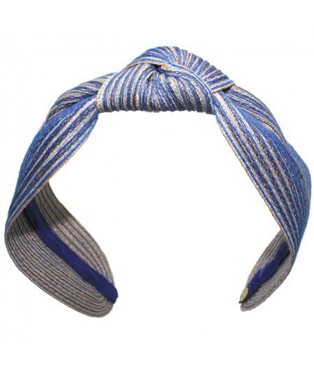 Sailor Colored Stitch Wide Center Knot Headband