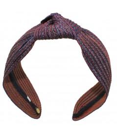 Williamsburg Colored Stitch Wide Center Knot Headband