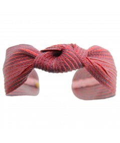 coney Colored Stitch Wide Center Knot Headband