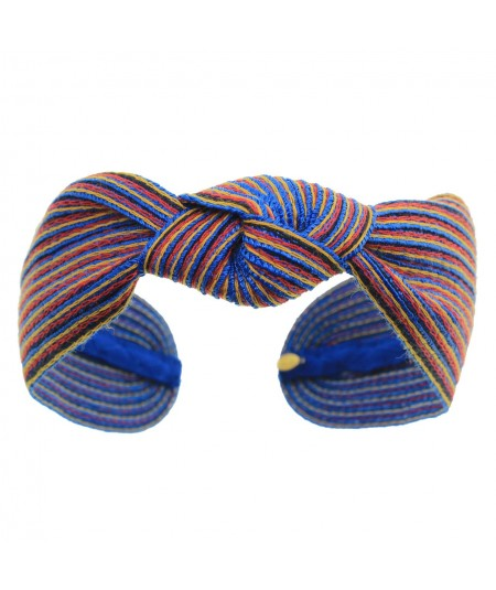 Pasano Colored Stitch Wide Center Knot Headband