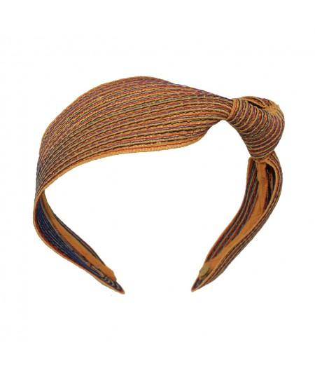 Marigold Mix Colored Stitch Side Knot Headband