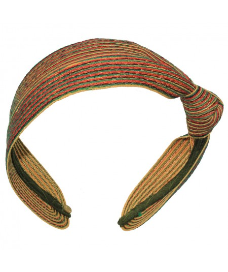 JamaicaColored Stitch Side Knot Headband
