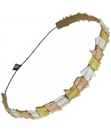 el30gsr-multi-color-metallic-recycled-leather-elastic-headband