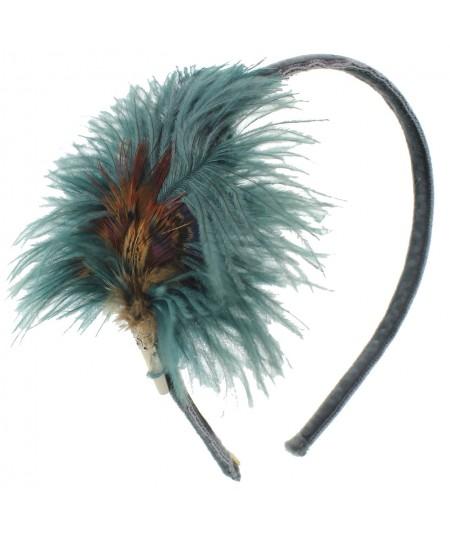 ftsk6-feather-trimmed-velvet-skinny-headband